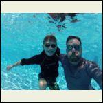 bearded underwater me & son