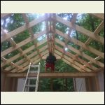 Framing the upper window.  This is when I wish I went with 12/12 pitch