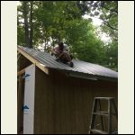 Roofing down and my good buddy Brice