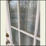 glass cracks in door