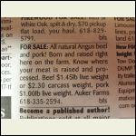 Rural meat deals.