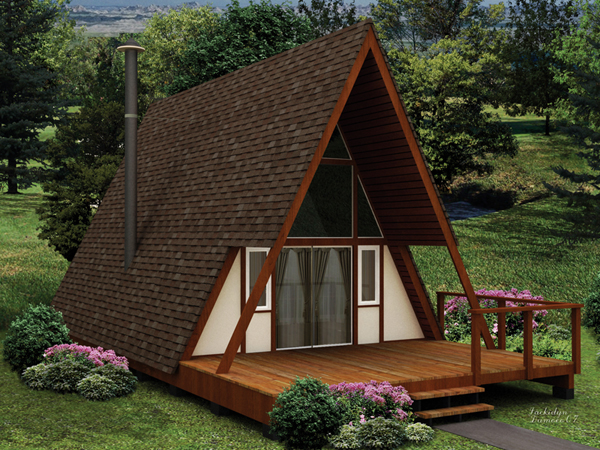 My 12x16 a frame cabin small cabin forum 1 for Small a frame cabin plans with loft