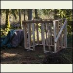 crap studs become wood shed