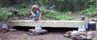 Small Cabin Floor Frame Construction Subfloor Sheeting Picture