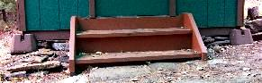 Small Cabin Foundation, Leveling and Stairs Picture