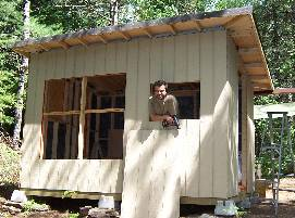 Small Cabin Wooden Frame Completed with Panels Image