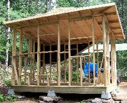 framing a small cabin