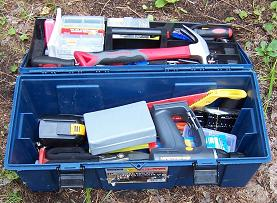 Cabin Building Tools in a Toolbox Picture