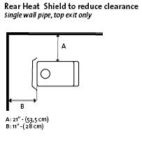Small Cabin Wood Stove Safety Clearance Image 5