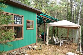 Small Cabin Outdoor Living Image