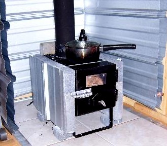 Small Cabin Wood Stove Setup
